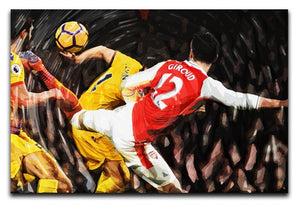 Olivier Giroud Scorpion Kick Print - Canvas Art Rocks - 1