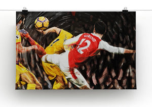 Olivier Giroud Scorpion Kick Print - Canvas Art Rocks - 2