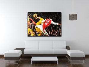 Olivier Giroud Scorpion Kick Print - Canvas Art Rocks - 4
