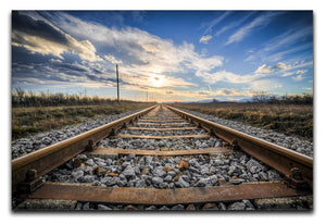 Train Track Print - Canvas Art Rocks - 1