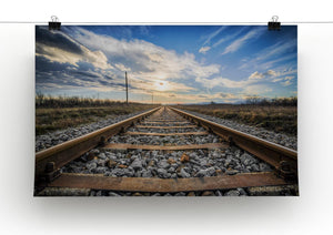 Train Track Print - Canvas Art Rocks - 2