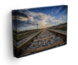 Train Track Print - Canvas Art Rocks - 3