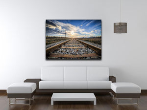 Train Track Print - Canvas Art Rocks - 4