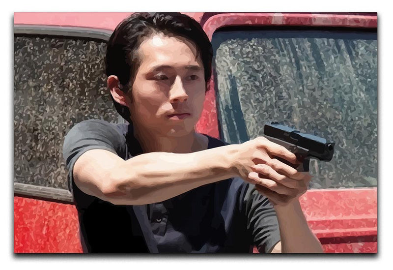 Glenn The Walking Dead Print - Canvas Art Rocks - 1