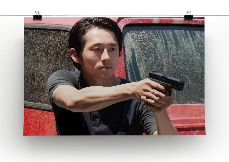 Glenn The Walking Dead Print - Canvas Art Rocks - 2