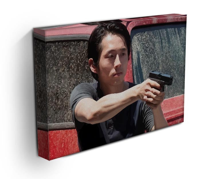 Glenn The Walking Dead Print - Canvas Art Rocks - 3