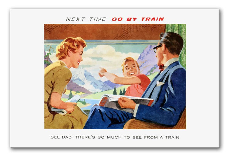 Go By Train Print - Canvas Art Rocks - 1