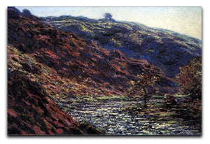 Gorge of the Petite Creuse by Monet Canvas Print & Poster  - Canvas Art Rocks - 1