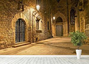 Gothic quarter Wall Mural Wallpaper - Canvas Art Rocks - 4