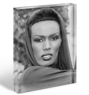 Grace Jones in style Acrylic Block - Canvas Art Rocks - 1