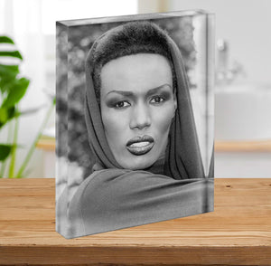 Grace Jones in style Acrylic Block - Canvas Art Rocks - 2