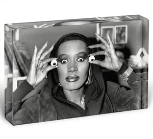 Grace Jones is all eyes Acrylic Block - Canvas Art Rocks - 1