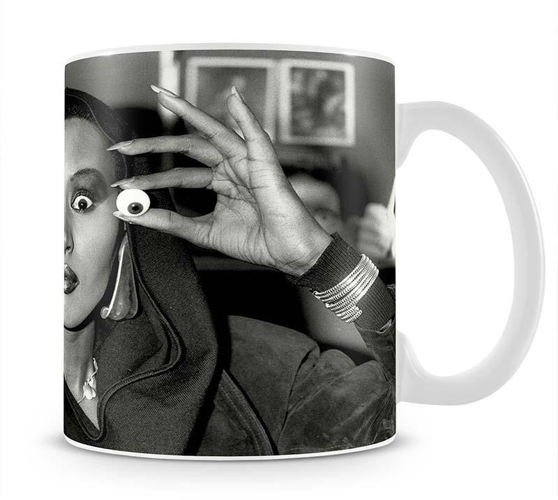 Grace Jones is all eyes Cup - Canvas Art Rocks - 1
