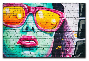 Graffiti Glasses Canvas Print or Poster  - Canvas Art Rocks - 1
