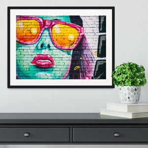 Graffiti Glasses Framed Print - Canvas Art Rocks - 1