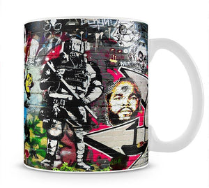 Graffiti Wall Abstract Mug - Canvas Art Rocks - 1