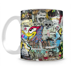 Graffiti Wall Abstract Mug - Canvas Art Rocks - 2
