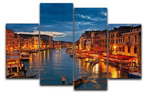 Grand Canal Venice at night 4 Split Panel Canvas  - Canvas Art Rocks - 1