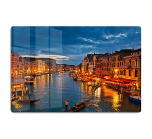 Grand Canal Venice at night HD Metal Print