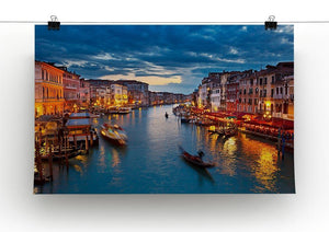 Grand Canal at night Venice Canvas Print or Poster - Canvas Art Rocks - 2