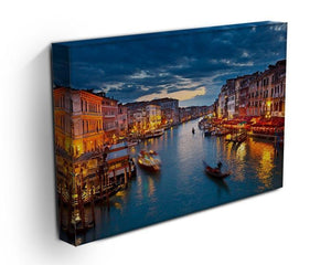 Grand Canal at night Venice Canvas Print or Poster - Canvas Art Rocks - 3