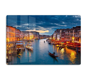 Grand Canal at night Venice HD Metal Print