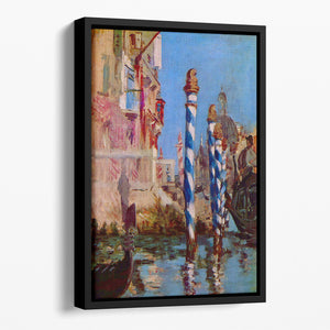 Grand Canal in Venice by Edouard Manet Floating Framed Canvas