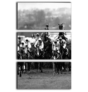 Grand National 1992 Carl Llewellyn on Party Politics 3 Split Panel Canvas Print - Canvas Art Rocks - 1