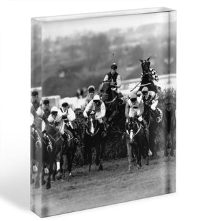 Grand National 1992 Carl Llewellyn on Party Politics Acrylic Block - Canvas Art Rocks - 1