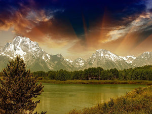 Grand Teton National Park Wall Mural Wallpaper - Canvas Art Rocks - 1