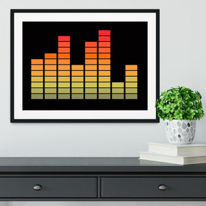 Graphic Equaliser Framed Print - Canvas Art Rocks - 1