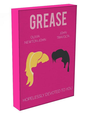 Grease Minimal Movie Canvas Print or Poster - Canvas Art Rocks - 3