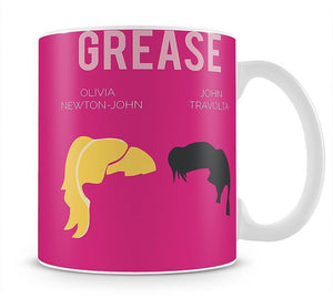 Grease Minimal Movie Mug - Canvas Art Rocks - 1