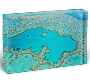 Great Barrier Reef Aerial View Acrylic Block - Canvas Art Rocks - 1
