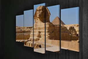 Great Sphinx with the pyramid of Menkaure 5 Split Panel Canvas  - Canvas Art Rocks - 2
