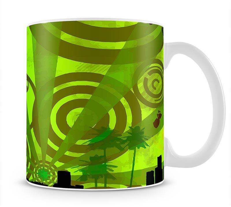 Green Urban Abstract Mug - Canvas Art Rocks - 1