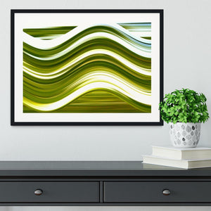 Green Wave Framed Print - Canvas Art Rocks - 1