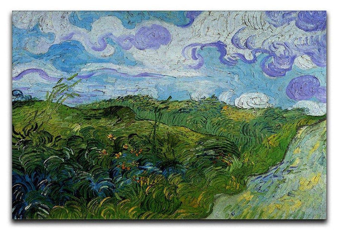 Green Wheat Fields by Van Gogh Canvas Print or Poster