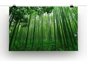 Green bamboo forest Canvas Print or Poster - Canvas Art Rocks - 2