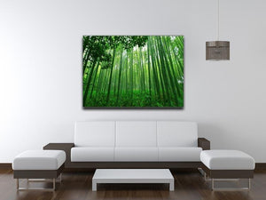 Green bamboo forest Canvas Print or Poster - Canvas Art Rocks - 4