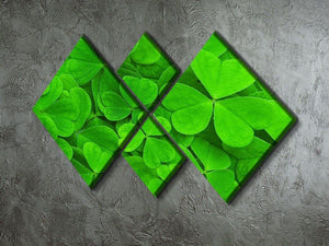 Green clover leaf 4 Square Multi Panel Canvas  - Canvas Art Rocks - 2