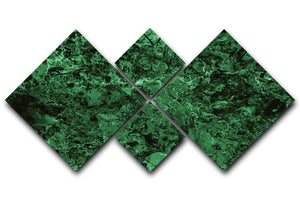 Green marble tiles seamless 4 Square Multi Panel Canvas  - Canvas Art Rocks - 1