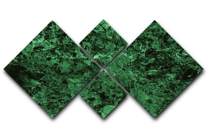 Green marble tiles seamless 4 Square Multi Panel Canvas