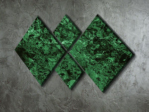Green marble tiles seamless 4 Square Multi Panel Canvas  - Canvas Art Rocks - 2