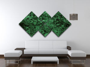 Green marble tiles seamless 4 Square Multi Panel Canvas  - Canvas Art Rocks - 3
