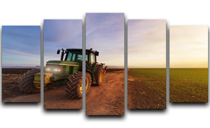 Green tractor 5 Split Panel Canvas  - Canvas Art Rocks - 1
