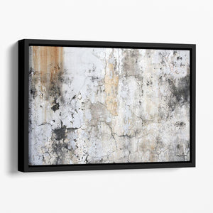 Grunge cracked wall Floating Framed Canvas - Canvas Art Rocks - 1