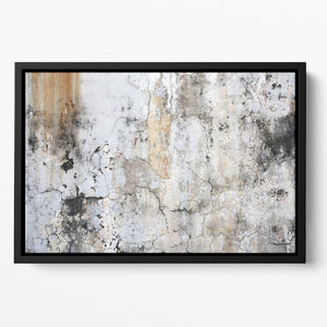 Grunge cracked wall Floating Framed Canvas - Canvas Art Rocks - 2