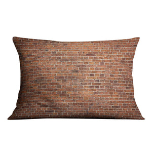 Grunge red brick wall Cushion - Canvas Art Rocks - 4