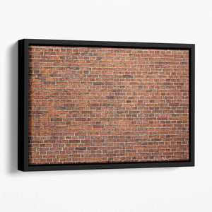 Grunge red brick wall Floating Framed Canvas